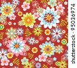 abstract seamless flower pattern. Colorful vector illustration - stock vector