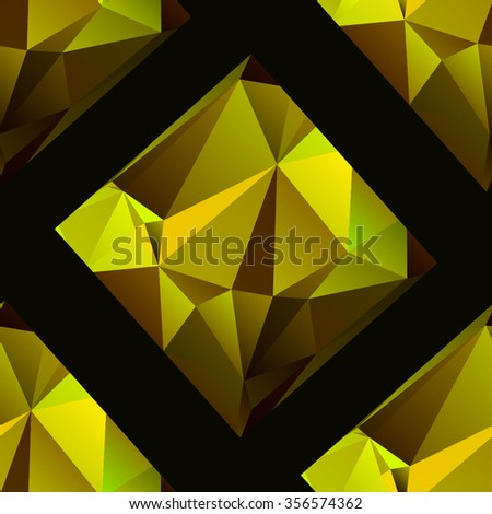 Abstract seamless geometric background of triangular polygons. Eps 10. Vector illustration. - stock vector