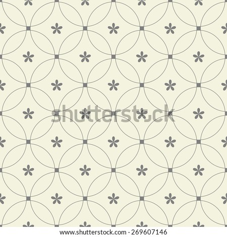 abstract seamless geometric floral pattern - stock vector