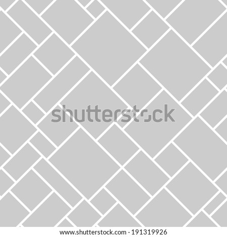 Abstract seamless geometric monochrome diagonal pattern. Vector floor texture background. - stock vector