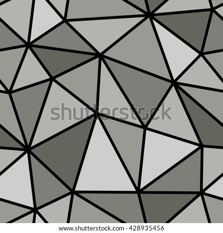 Abstract seamless geometric pattern. Light and dark grey geometric pattern for background or wallpaper. Geometric pattern for printing presentation or flyer. Thick lines on the geometric pattern. - stock vector