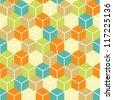 Abstract seamless geometric pattern.vector illustration - stock vector