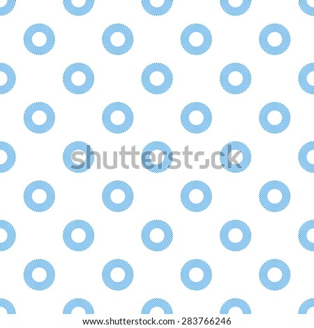 Abstract Seamless geometric pattern with circles on white background.Vector - stock vector