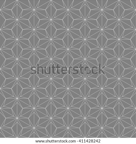 Abstract seamless geometric pattern with interlaced grids.minimal pattern.monochrome - stock vector
