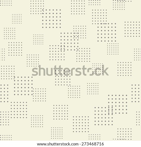 abstract seamless geometric pattern with spotty squares