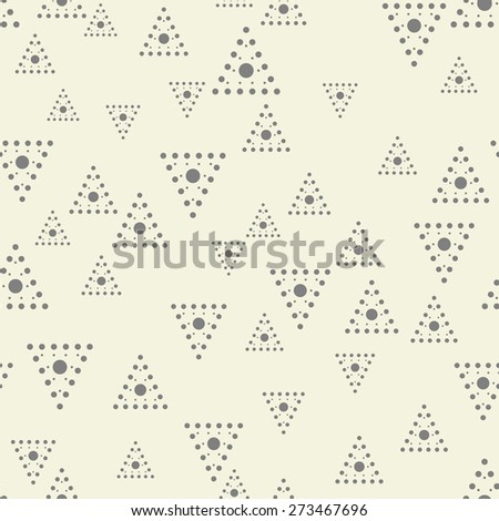 abstract seamless geometric pattern with spotty triangles - stock vector
