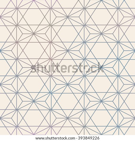 Abstract Seamless Geometric Vector Hexagon Pattern. Mesh background seamless too. - stock vector