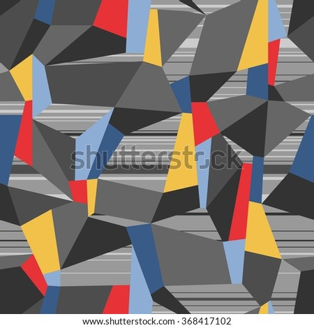 Abstract Seamless Geometric Vector Pattern - stock vector
