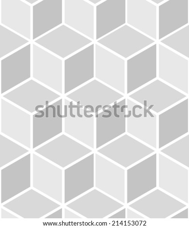 Abstract seamless hexagon pattern - stock vector