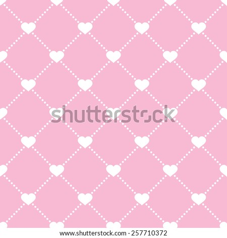 abstract seamless ornament pattern with hearts vector illustration - stock vector