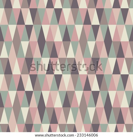 abstract seamless pastel triangle texture - stock vector