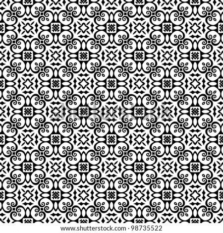 Abstract seamless pattern background black and white vector illustration - stock vector