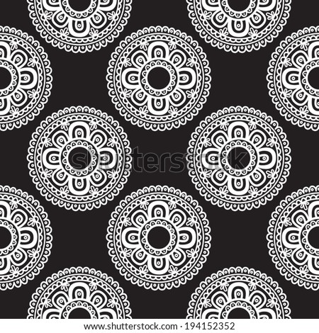 Abstract seamless pattern. Black and white. Vector illustration.