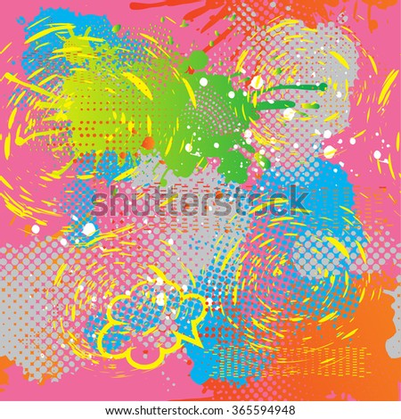 Abstract Seamless Pattern For Girls Colorful Wallpaper Modern Style Background