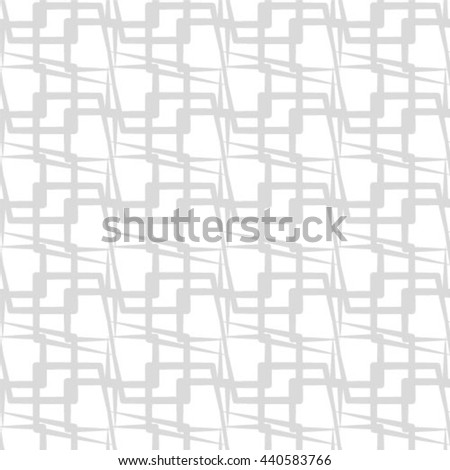 Abstract seamless pattern. Geometric line gray ornament. Ornamental stylish background. - stock vector