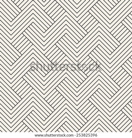 Abstract seamless pattern. Geometric simple regular background. Vector illustration with striped linear grid - stock vector