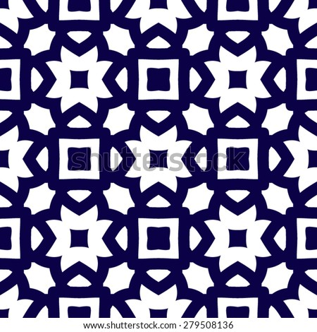 Abstract seamless pattern in arabic style, vector background - stock vector
