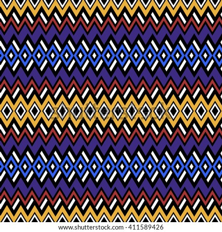Abstract seamless pattern in boho chic style. Vector wallpaper with ethnic aztec ornament. Aztec pattern. Folk print template for fabric, paper, post cards, wrapping, t-shirts, etc.