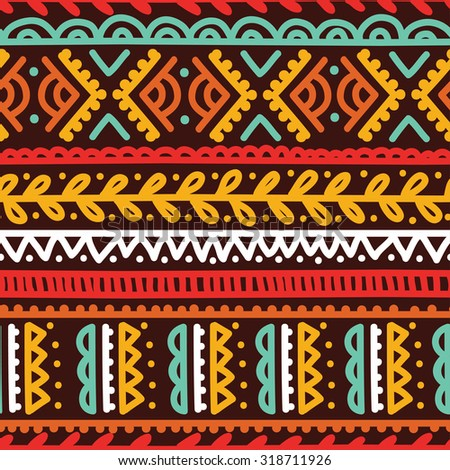 abstract seamless pattern in boho style, vector illustration