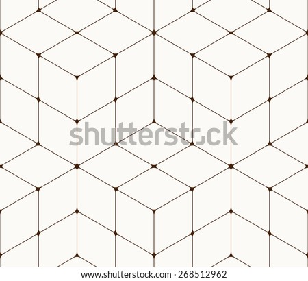 Abstract seamless pattern made from squares - stock vector