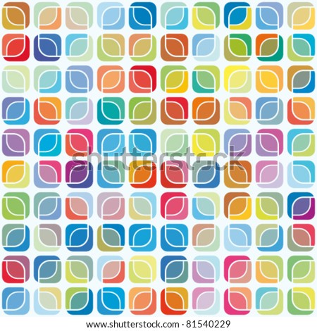 abstract seamless pattern, mosaic background - stock vector