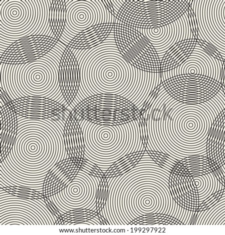 Abstract seamless pattern of rings. Vector illustration. - stock vector