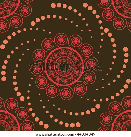 Abstract seamless pattern on brown background
