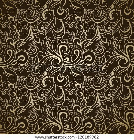 Abstract seamless pattern on dark background - stock vector