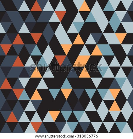 Abstract seamless pattern. Origami ornament. Geometric backdrop. Polygonal crystal texture. Triangular texture. - stock vector