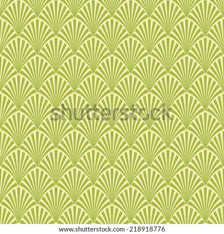 Abstract seamless pattern palm branch - stock vector