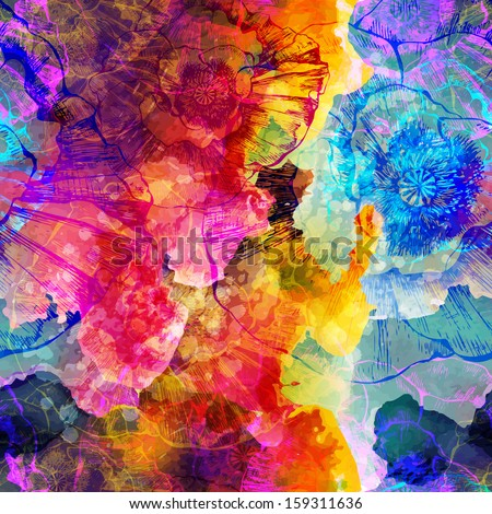 Abstract seamless pattern. Vector illustration, EPS 10 - stock vector