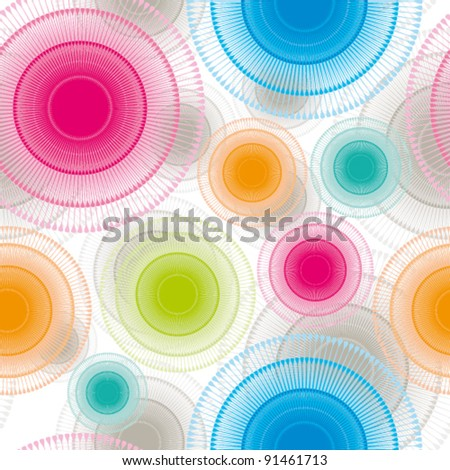 Abstract seamless pattern, vector wallpaper background. - stock vector