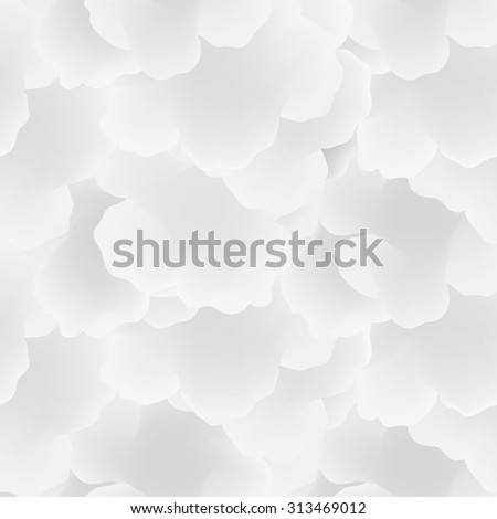 Abstract seamless pattern with clouds. Cloudy sky tiling background. Sky texture - stock vector