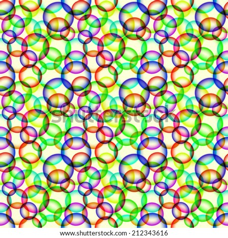 Abstract seamless pattern with colorful bubbles - stock vector