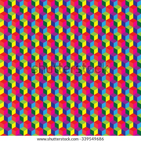 Abstract seamless pattern with cubes, can be used as background.