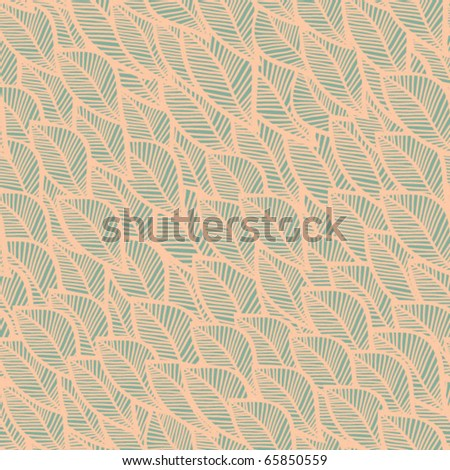 Abstract seamless pattern with leaf - stock vector