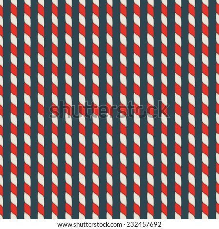 Abstract seamless pattern with ropes in vector. Christmas candy striped wallpaper.  - stock vector