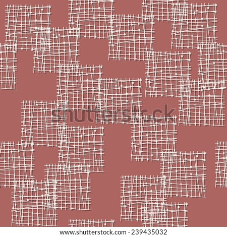 abstract seamless pattern with square shapes - stock vector