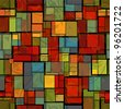 abstract seamless pattern with stained glass imitation - stock photo