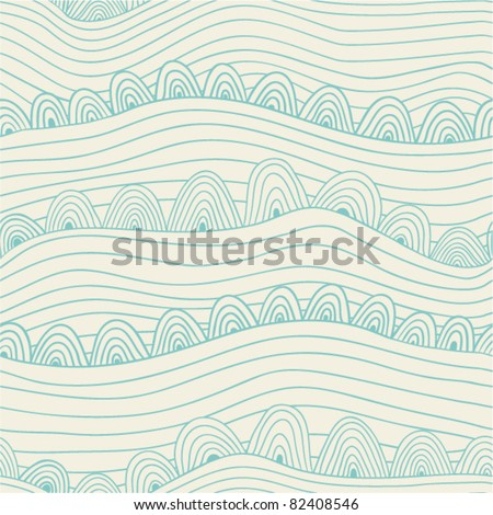 Abstract seamless pattern with stripes and circles - stock vector