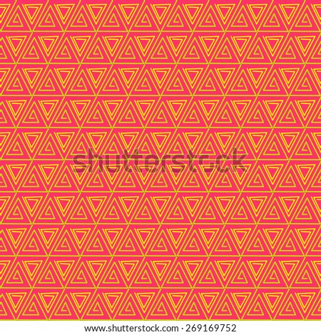abstract seamless pattern with triangles - stock vector