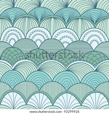 Abstract seamless pattern with waves - stock vector