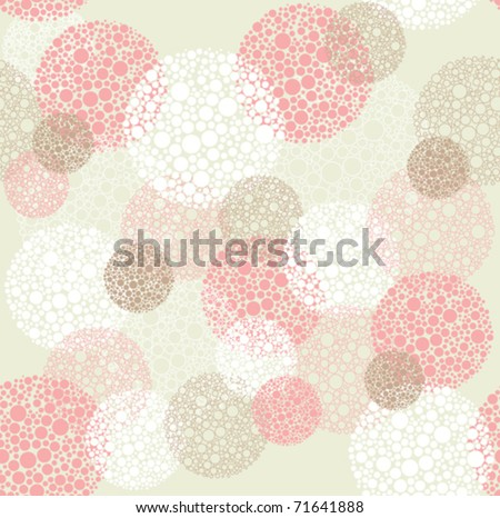 Abstract seamless polka dot circles pattern - stock vector