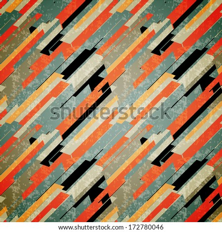 Abstract seamless retro pattern.Vector illustration.  - stock vector