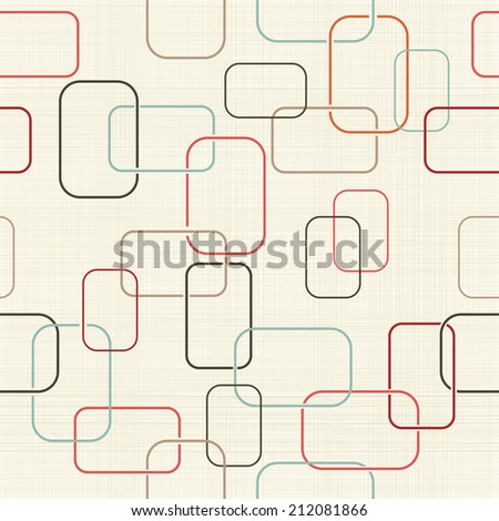 abstract seamless retro pattern with colorful frames - stock vector