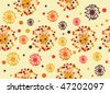 Abstract seamless retro-styled background - stock vector