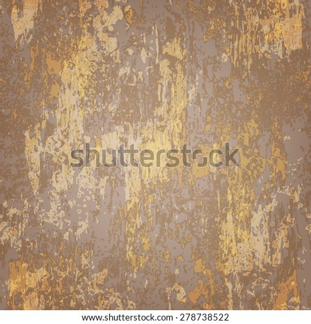 abstract seamless texture of brown rusted metal - stock vector