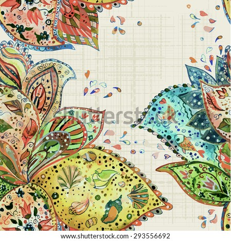 abstract seamless texture watercolor. vector illustration - stock vector