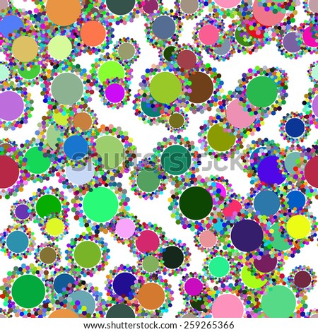 abstract seamless texture with colors circles or flowers - stock vector