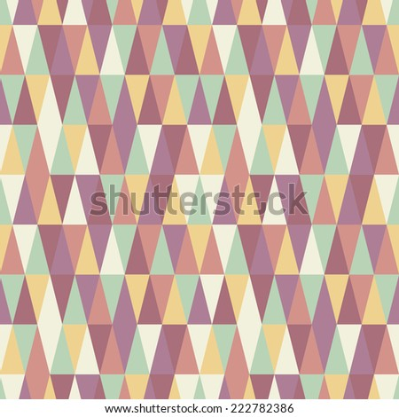 abstract seamless triangle texture - stock vector